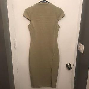 Classy High Neck Midi Dress